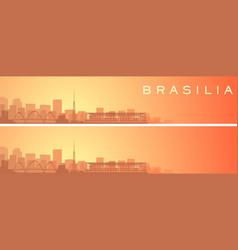 Brasilia beautiful skyline scenery banner vector