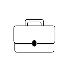 briefcase money business financial line style icon vector image