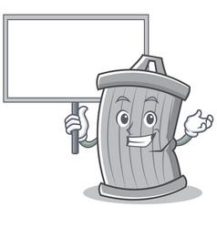 bring board trash character cartoon style vector image