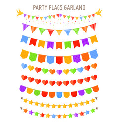 bunting party flag garlands vector image