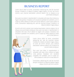 business report banner color vector image