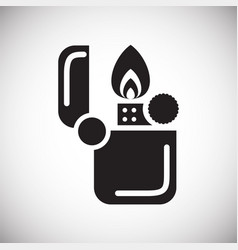 camping lighter icon on white background for vector image