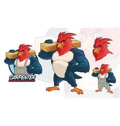 Carpenter mascot design vector