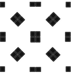 chocolate piece pattern seamless black vector image