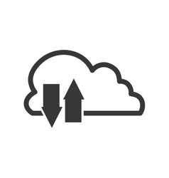 Cloud computing download communication icon vector