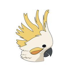 Cockatoo exotic bird icon image vector