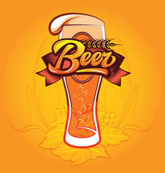 color with a beer glass and vector image