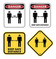 Covid-19 danger sign set vector