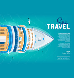 Cruise liner travel banner vector