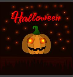 cute cartoon pumpkin for a halloween vector image