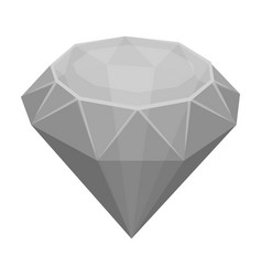 diamond icon in monochrome style isolated on white vector image