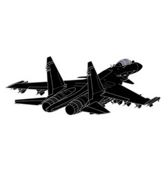 Draw of modern russian jet fighter vector