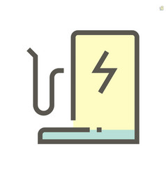 electric car or ev car icon design 48x48 pixel vector image