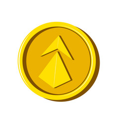 ethereum virtual money currency vector image