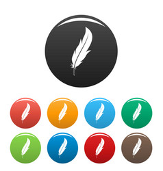 feather icons set color vector image