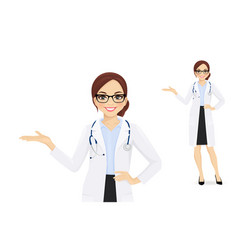 female doctor vector image