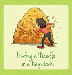 Finding needle in a haystack vector