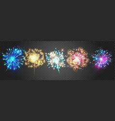 fireworks sparkles vector image