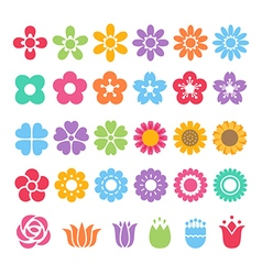 Flower decorative set vector