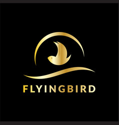 flying bird business logo vector image