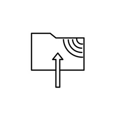 Ftp upload icon vector