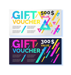 gift voucher flyer vector image