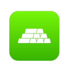 gold bars icon digital green vector image