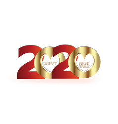 happy 2020 new year gold party celebration vector image