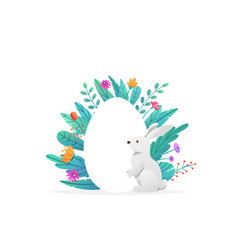 happy easter background isolated on white holiday vector image