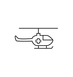 helicopter medical icon vector image
