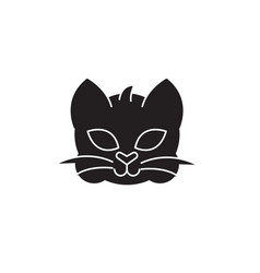home cat head black concept icon home cat vector image