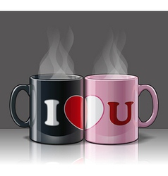 I Love U Mags Black Pink vector image