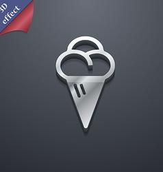 ice cream icon symbol 3D style Trendy modern vector image
