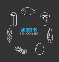 Icons for allergens vector