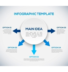 Infographics template with arrows and 3d circle vector