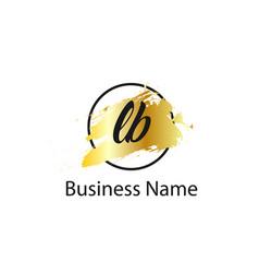 Initial letter la logo template design vector