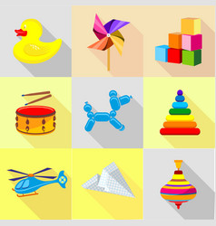 knickknack icons set cartoon style vector image
