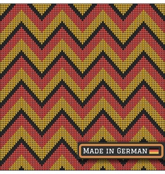 Knitting German colors pattern sweater battlement2 vector