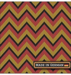 knitting German colors pattern sweater battlement2 vector image