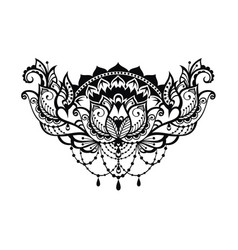 lotus decorative vector image