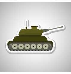 Military tank design vector image