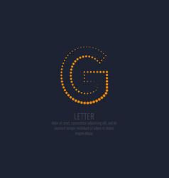 modern dotted letter g latin alphabet vector image