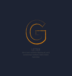 modern dotted letter g of the latin alphabet vector image