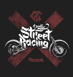 motorcycle t shirt prints vector image