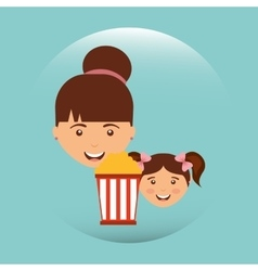 movie viewer design vector image