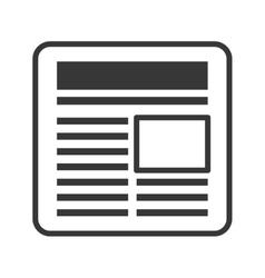 News information paper design vector