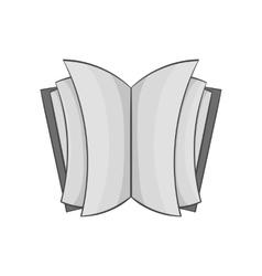 Open thick book icon black monochrome style vector image