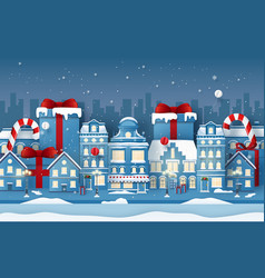 origami paper art background town with vector image