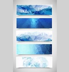 Polygonal Banners Set 2 vector image vector image