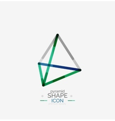 Pyramid shape line design vector image